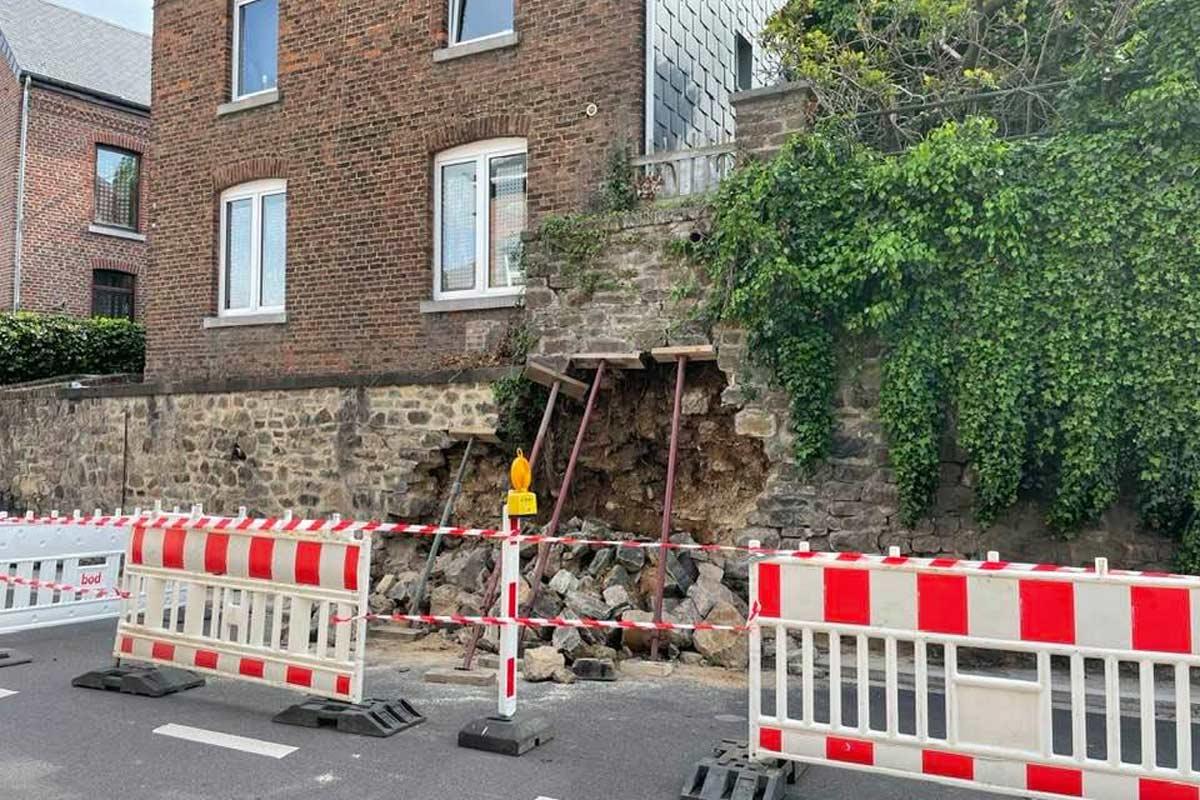 Dalhem : un mur de la vieille ville s'effondre